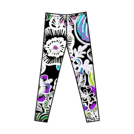 4f02277ef26831 VIMMA naisten Flowerpower leggings Black koot XS | Ratkiriemu ...