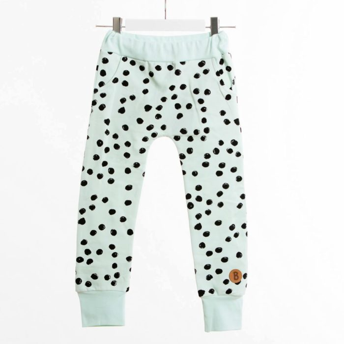 blaa mint dot baggy pants