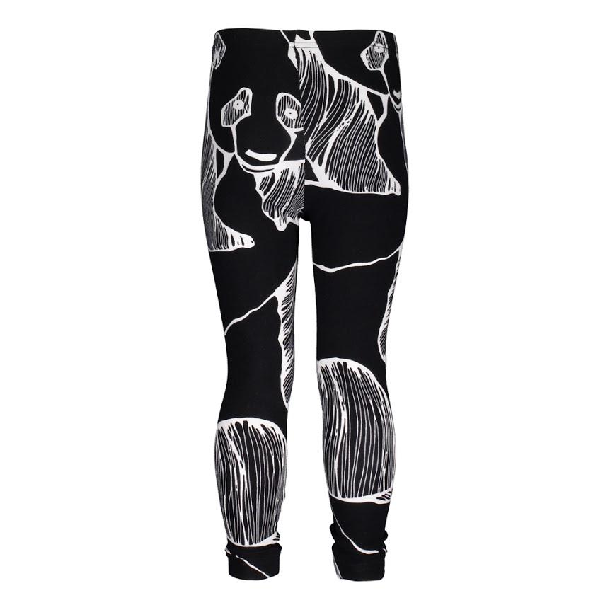 METSOLA naisten leggings Black White Panda XL 68d6769753