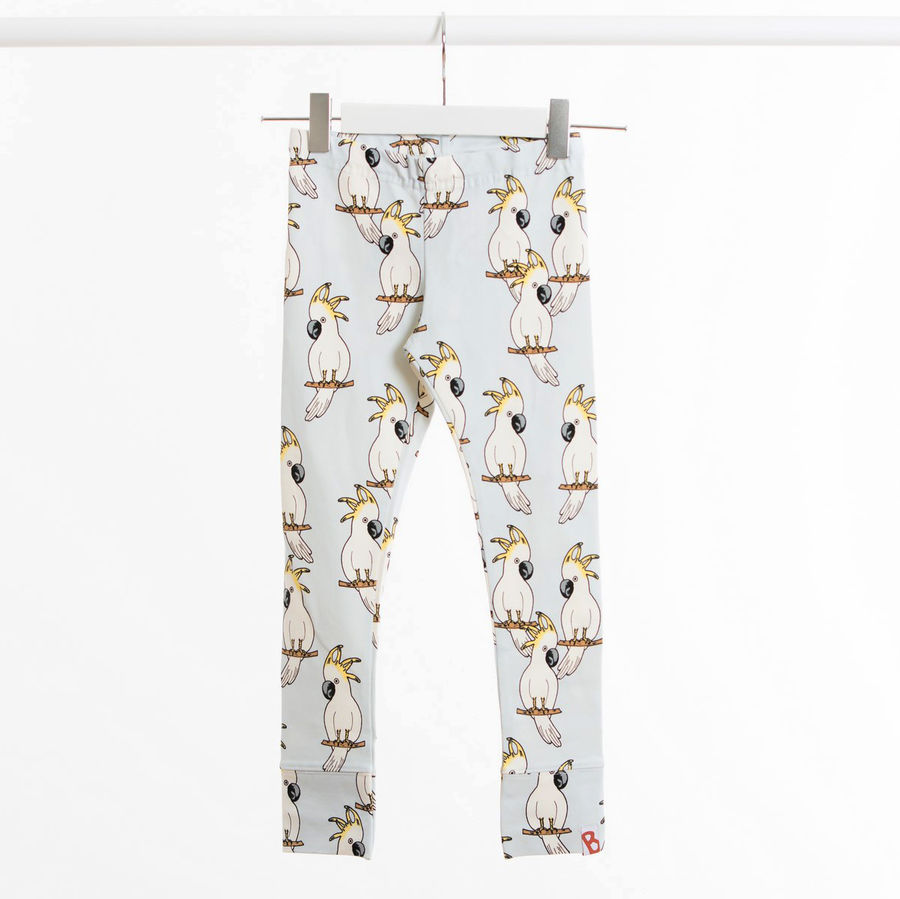 paris leggings parrot blaa
